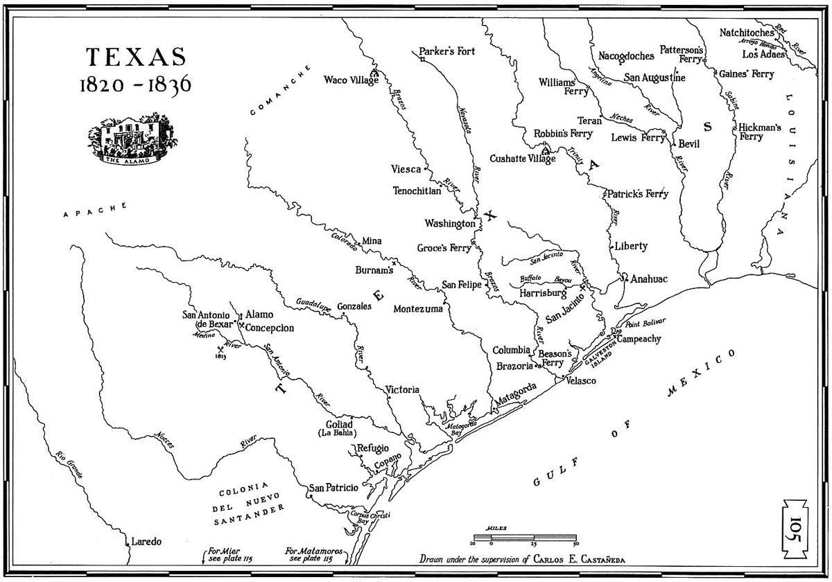 Texas Historical Map Serving The Texas Gulf Coast